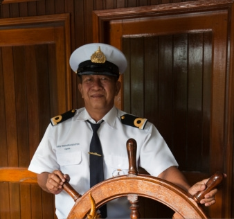 Our Boat Captain in action