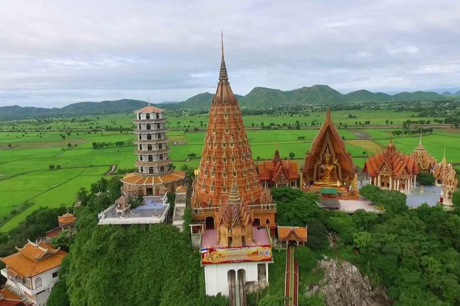 Wat Tham Sua is one of famous temples in Kanchanaburi