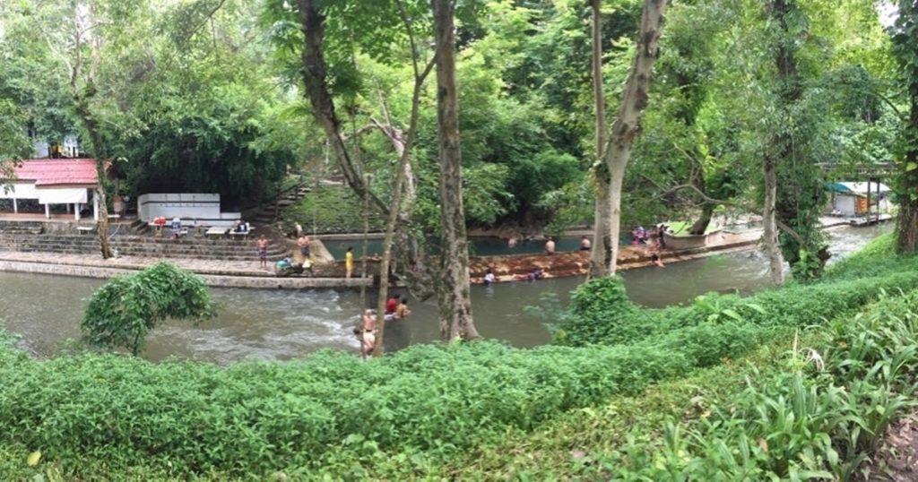 Fluss der heissen Quelle Hin Dat |Hin Dat Hot Spring River