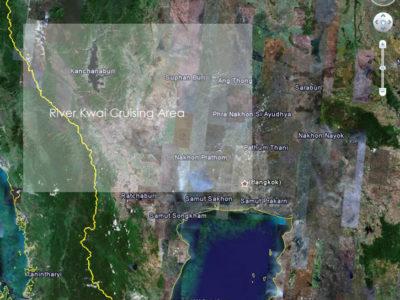 River Kwai Cruising Area Map